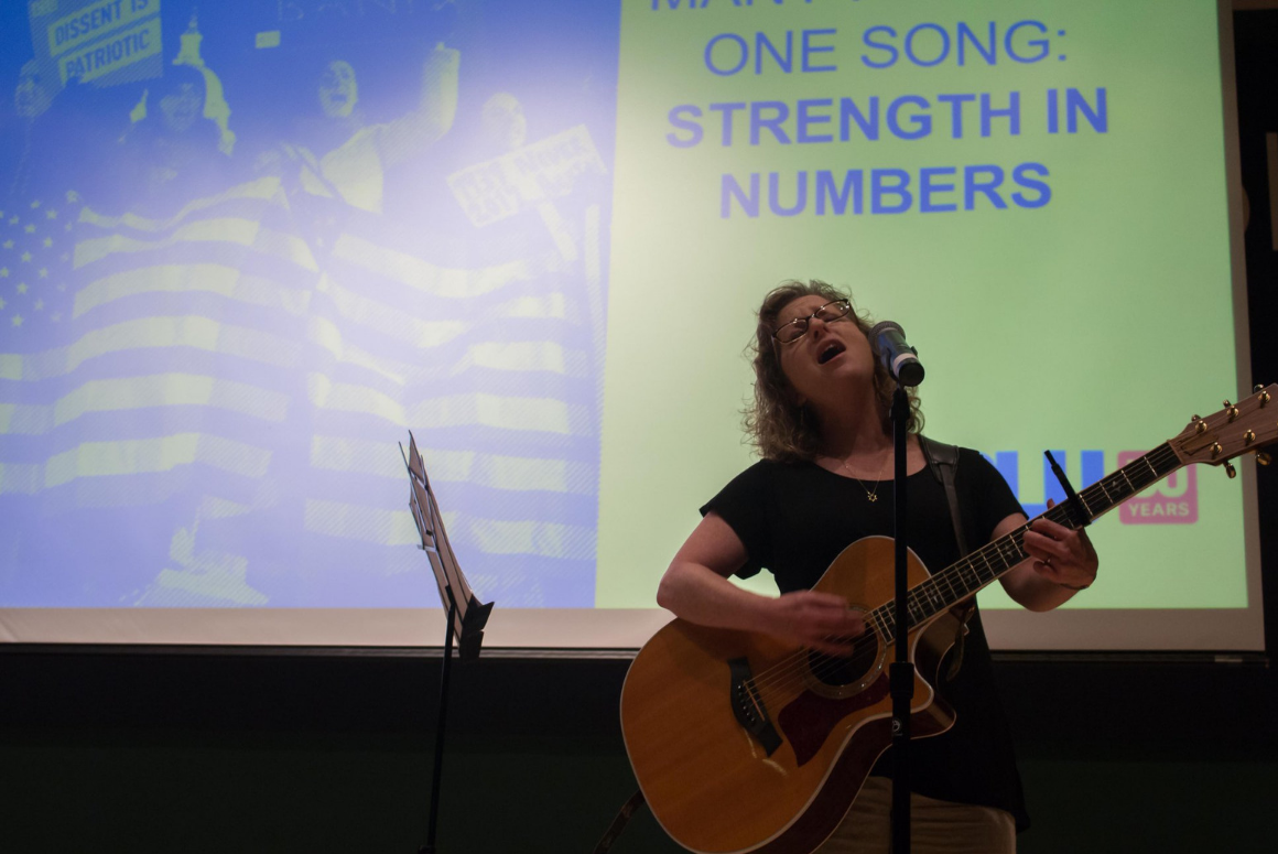 Singer-songwrite Susan Greenbaum performed at the 2018 ACLUVA Annual Meeting