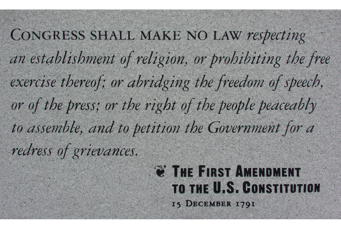 The text of the First Amendment
