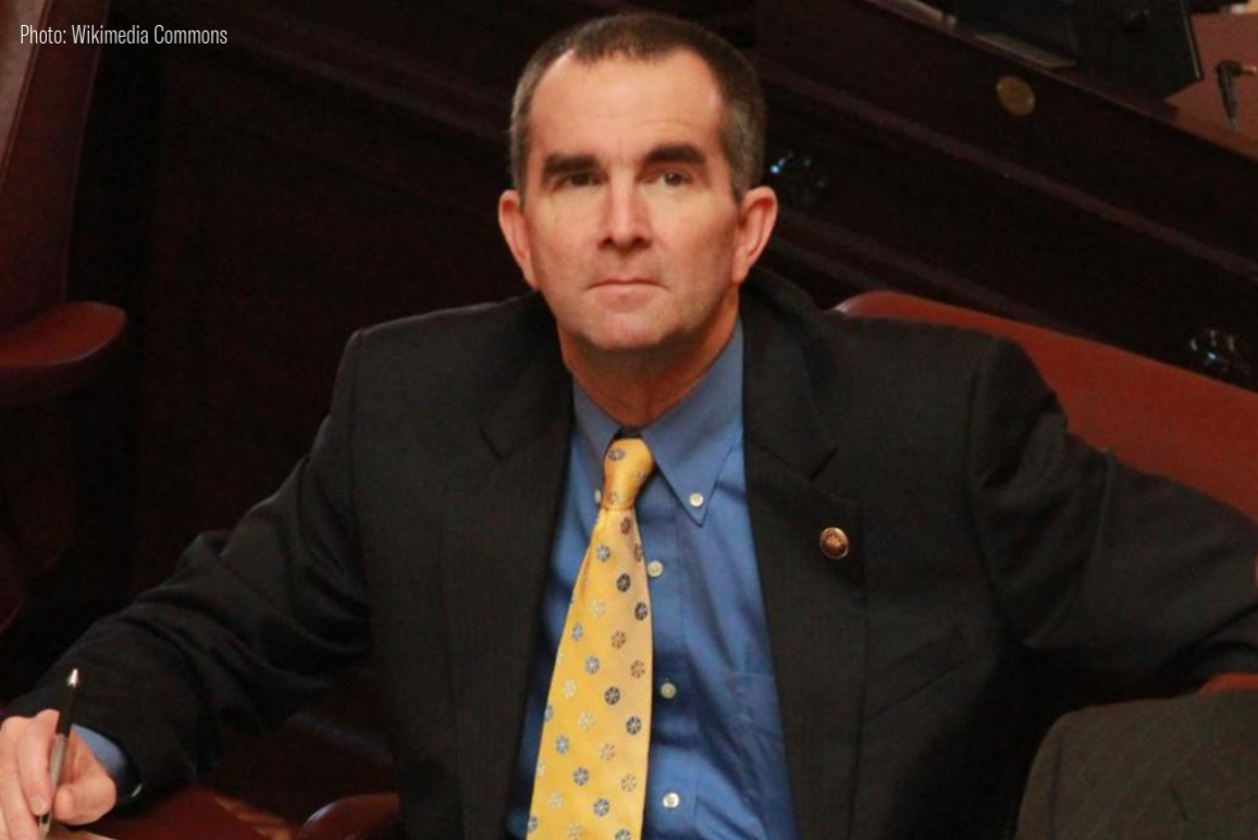 A photo of Virginia Governor Ralph Northam