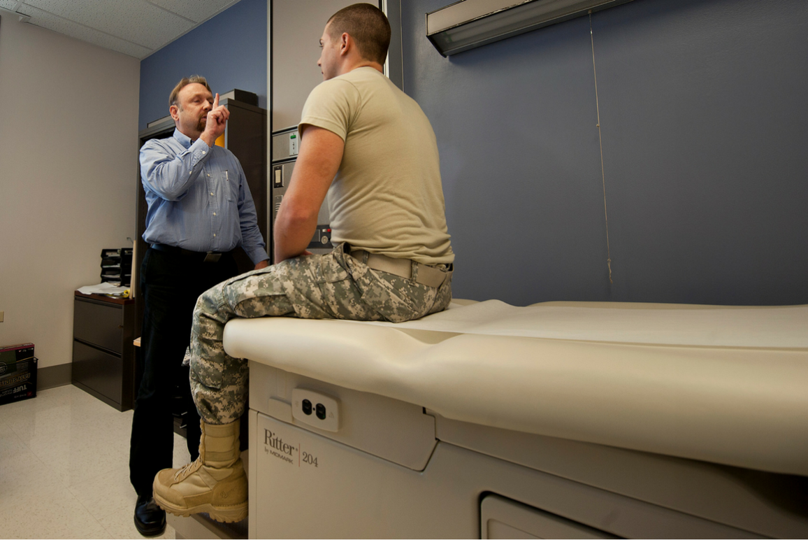 Transgender service member getting medical care